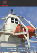 Launching and Recovery System of 'Free Fall Life Boats'