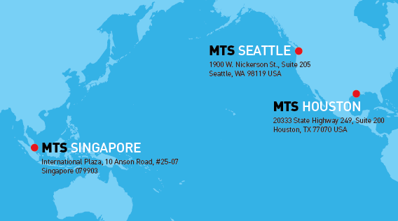 Maritime Training Services locations map