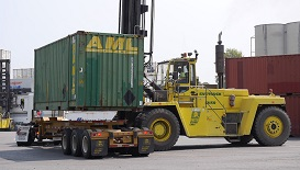 Container Yard Forklift Safety
